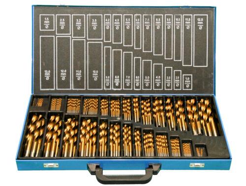 TITAN HSS TiN  1-13mm Spiralbohrer Bohrer Set 230 tlg