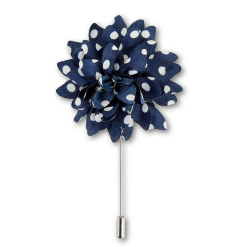 for Suit Details about  /4 Colors Men/'s Polka Dots Flower Lapel Pin Boutonniere