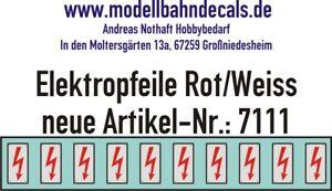 10-Spur-0-Elektropfeile-3-3-x-1-6-mm-rot-auf-weissem-Schild-045-7111