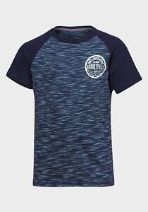 Garcons-Bleu-Marine-T-Shirt-Brooksville-a-Manches-Courtes-Age-8-13-Gratuit-P-P