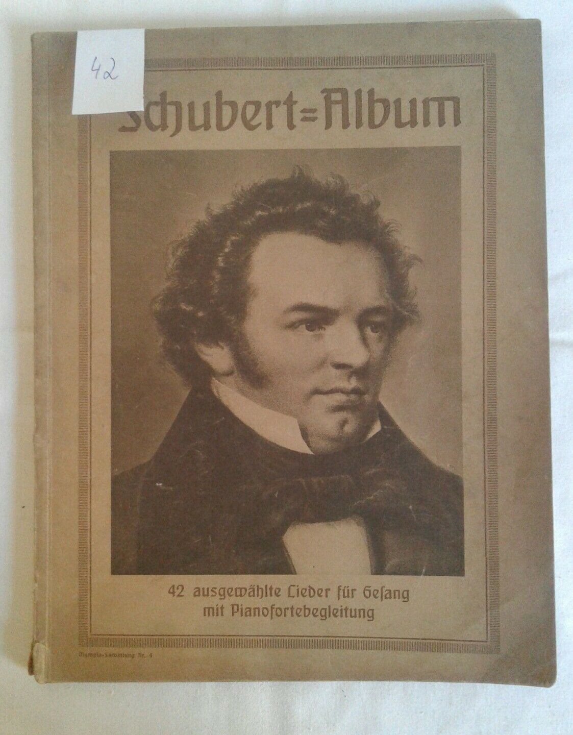 Altes Notenheft Notenbuch Franz Schubert Album Noten Lieder Gesang Pianoforte
