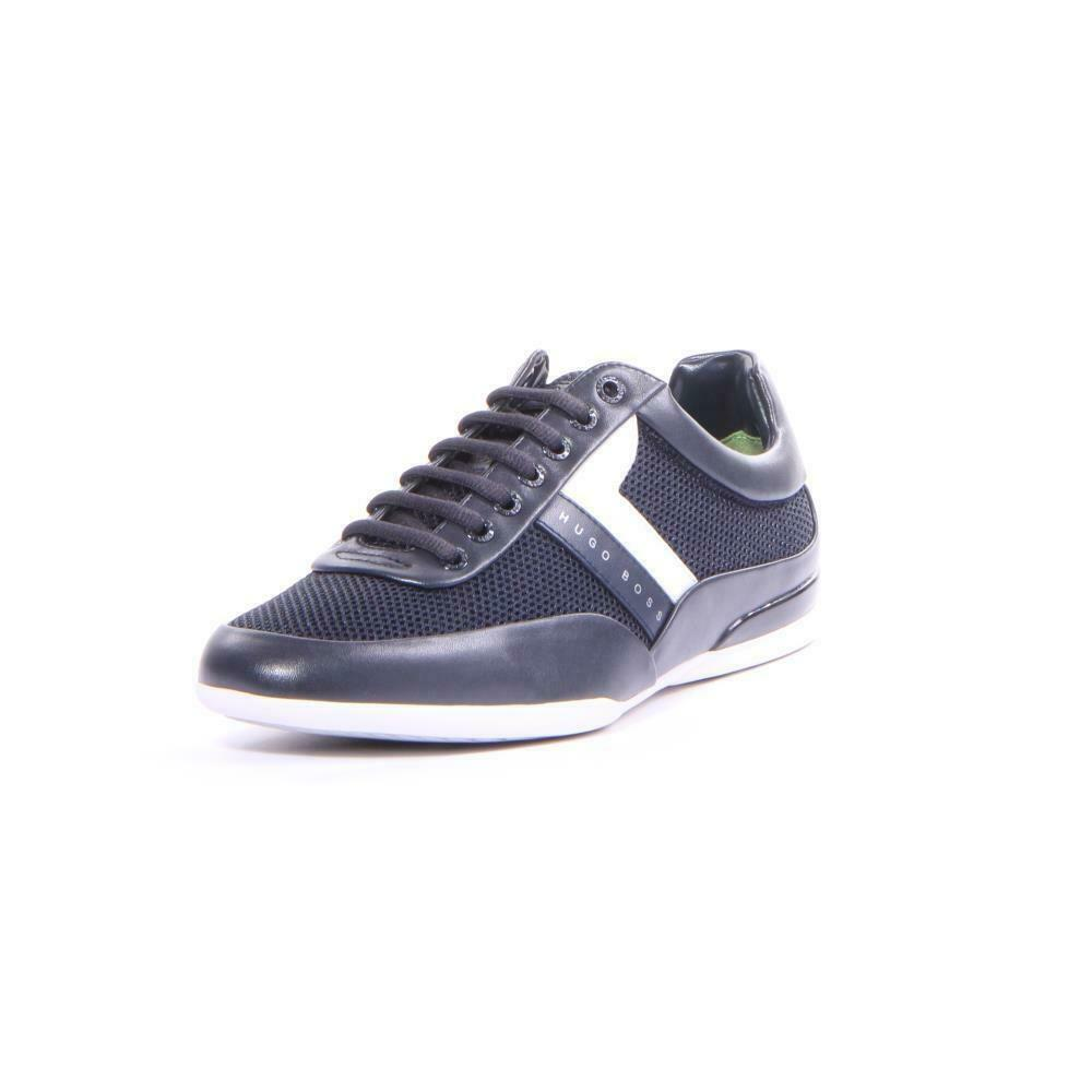 Hommes Chaussures Hugo Boss Space FaibleP Syme paniers Bleu Taille 8