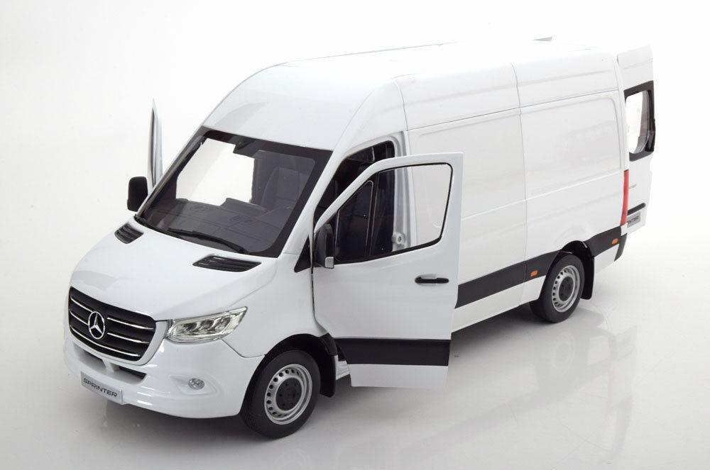 NOREV 2018 Mercedes Benz Sprinter Delivery Van White Dealer Edition 1 18 Rare