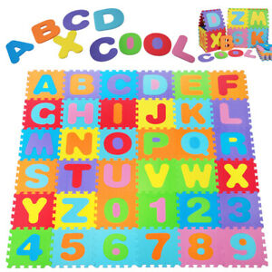 Alfombra de puzzle para niños colchoneta de espuma alfombra de juego - 86 piezas