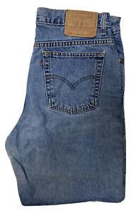 Vintage-Levi-039-s-512-Slim-Fit-Tapered-Leg-Jeans-Womens-14S-32-X-29-Blue-Denim