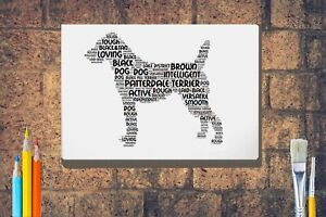 Patterdale-Terrier-Word-Art-Canvas-A4A3A2A1-Mothers-Day-Gift-Personalised-Option