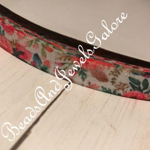 Floral foe inspired floral elastic floral hair ties flower foe feather foe-5//8