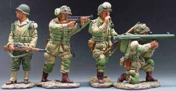KING & COUNTRY D DAY DD034 U.S. 82ND AIRBORNE BAZOOKA TEAM MIB