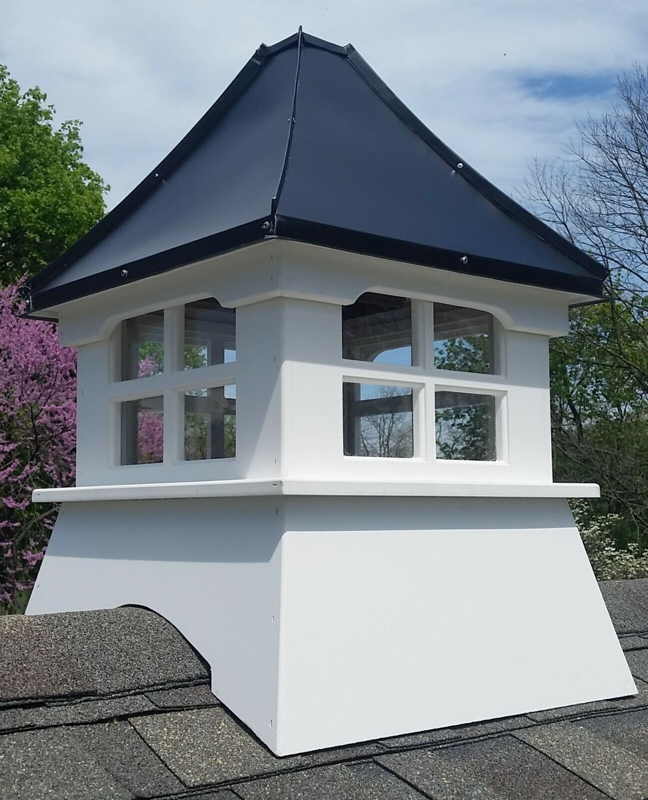 Accentua Laguna Vinyl Cupola with Copper Roof, 20 in. Square, 32 in. High