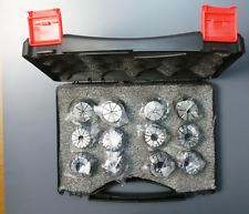 """Super Precision 12 PCS 1/8""""-3/4"""" ER32 ER-32 Collets Set With 9/16 5/8 11/16 US"""