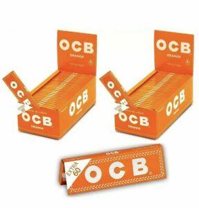 2 pz KIT 3000 CARTINE OCB ORANGE 50 X 60 CORTE ARANCIONI ASTUCCIO BOX LIBRETTI