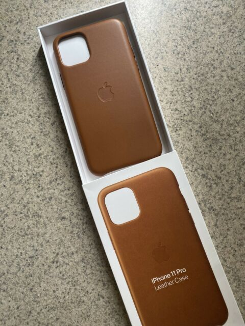 Apple Leather Case for iPhone 11 Pro - Saddle Brown