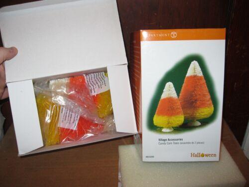 Department 56 Halloween Village Accessories Candy Corn Trees