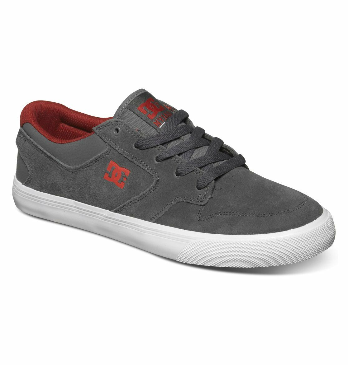 DC Uomo - NYJAH VULC  Uomo DC Skate Schuhes (NEW w/ FREE SHIP) Dark Shadow - SUEDE Footwear 1a4c16