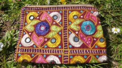 Hand-embroidered Afghan ethnic boho bohemian tribal VINTAGE gift purse bag