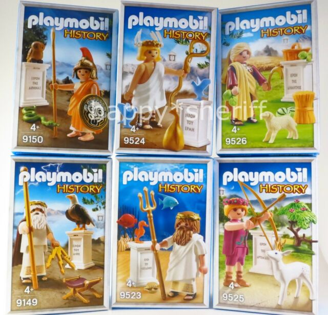 PLAYMOBIL  ANCIENT GREEK GODS 9523 9524 9525 9526 BOXED  collector