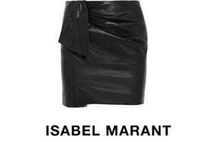 Isabel d'agneau Marant 36 Boden noir Petit ais fran Jupe cuir en TqTgdxXrw