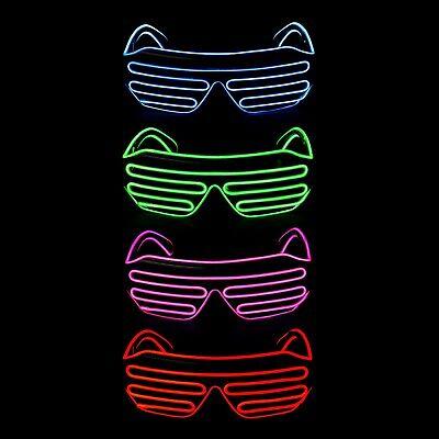 El Filo Led Accendere Occhiali Neon Glow Party Rave Lampeggiante Tonalità Dell'otturatore Occhiali-mostra Il Titolo Originale