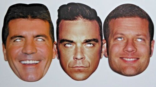 The X Factor 2018 Celebrity Face Masks 1st Class Post Great for Parties