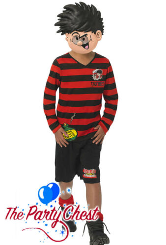 Ragazzi Dennis la Minaccia Costume Ufficiale Beano Libro Settimana Vestito Da Bambino Costume