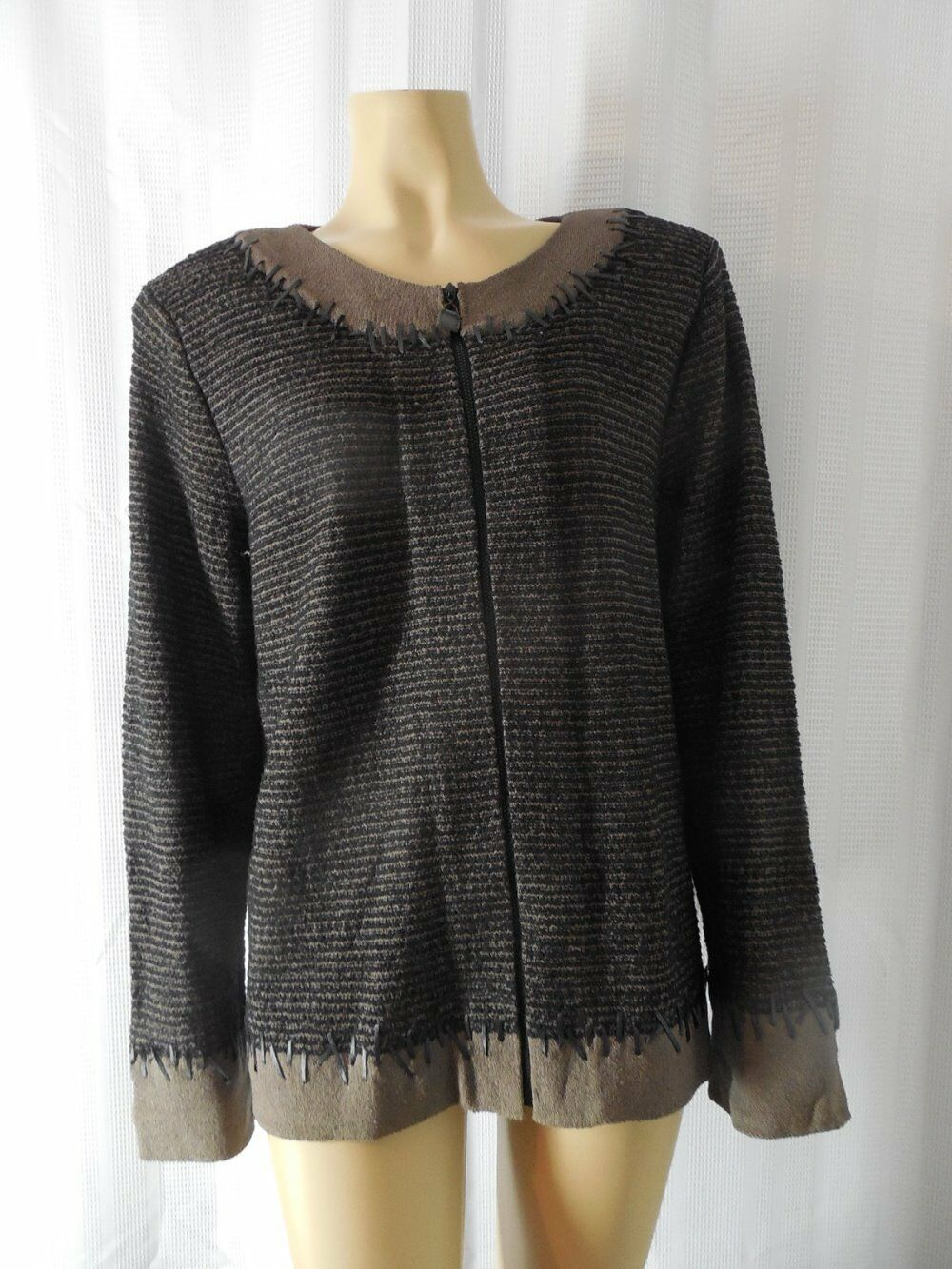 STEVE FABRIKANT Sweater Cardigan XLarge brown Wool blend Vintage