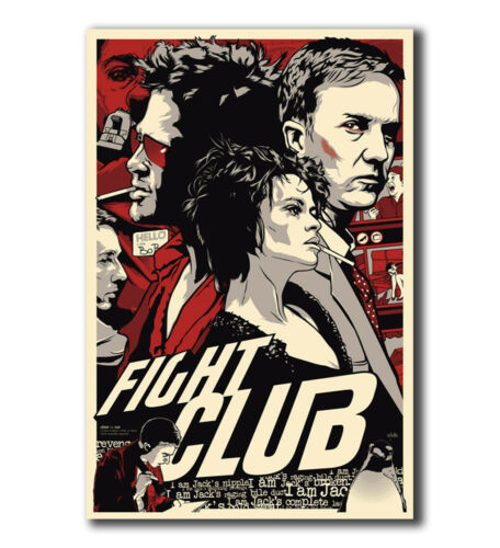 T-431 Art Poster Fight-Club/_poster/_goldposter/_com/_8243 Hot Silk 24x36 27x40IN
