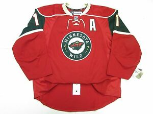 newest collection d0b42 b9c80 Details about ZACH PARISE MINNESOTA WILD AUTHENTIC HOME NHL REEBOK EDGE 2.0  7287 HOCKEY JERSEY
