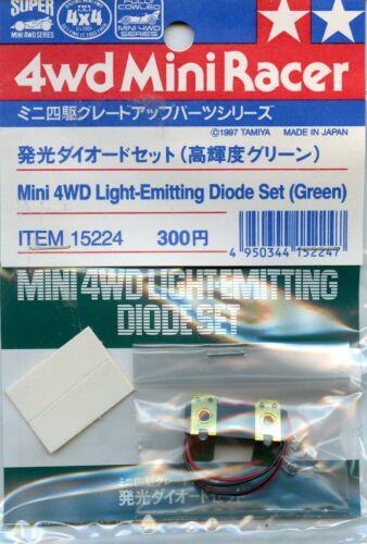 Tamiya 4WD Mini Racer Light Emitting Diode Set Green 2 Pack #15224