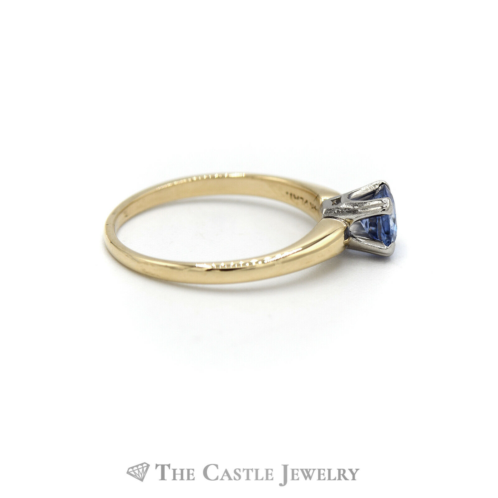 Round Tanzanite Solitaire Ring in 14KT Yellow Gold - image 3