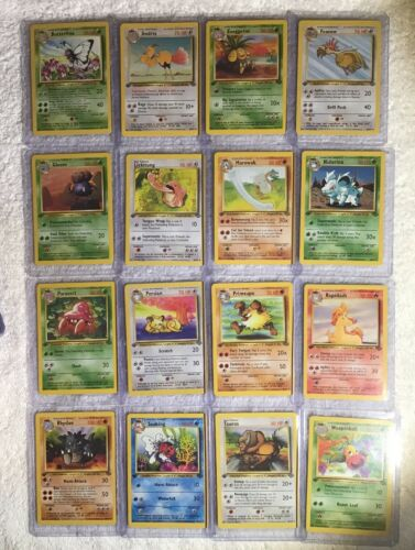 Complete Full 1st Edition Jungle Set All # 64//64 Pokemon Trading Cards TCG Games