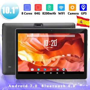 10.1'' 4G+64GB Android 7.0 HD IPS Tablet PC Octa 8 Core WIFI bluetooth 2 SIM NEW