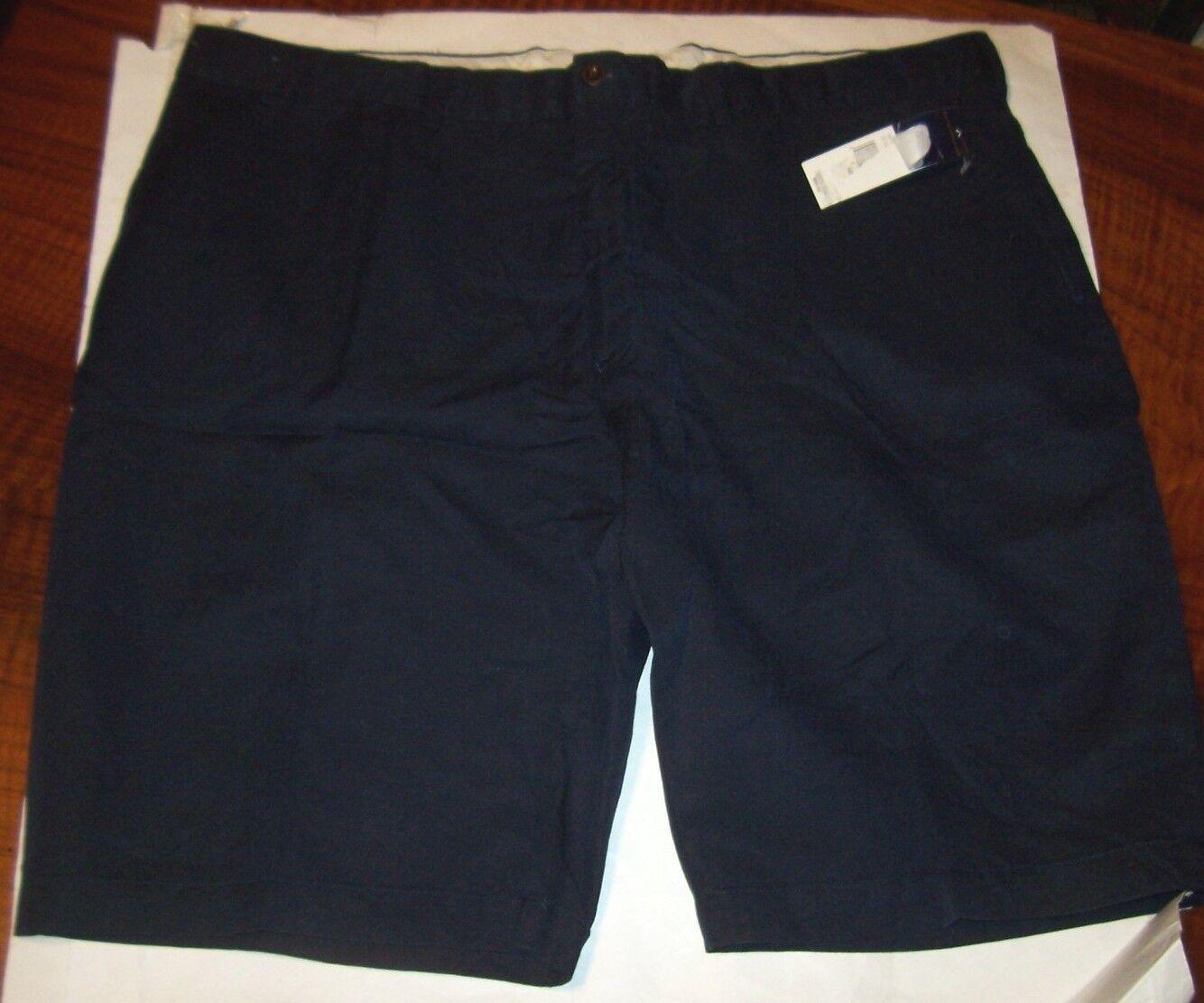 New Polo Ralph Lauren linen silk cotton blend shorts navy bluee  flat front sz 40