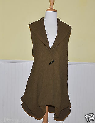 Connies Moonlight womens vest new olive green color high fashion #7524 - NWT