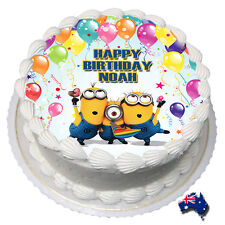 Minions Edible Cake Image Icing Personalised Birthday Decoration