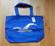 NWT HOLLISTER So Cal Shine TOTE BOOK SCHOOL BAG Blue by Abercrombie