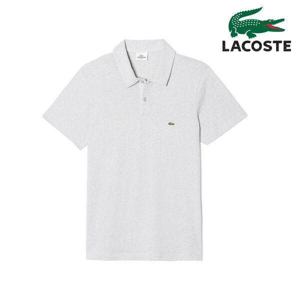 Lacoste Live Ultraslim Fit Polo Shirt PH0587 51 CCA Grey Men SZ S - XL