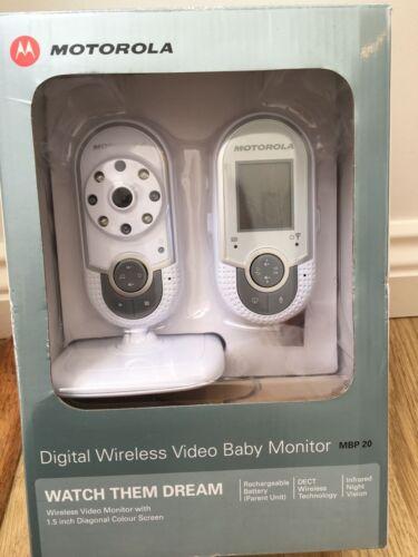1 of 1 - Motorola MBP20 Digital Wireless Video Baby Monitor Infrared Night Vision