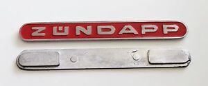 1-Zuendapp-Tankemblem-Rot-Guss-1-5-x-13cm-510-20-100-Combinette-Sport-Emblem