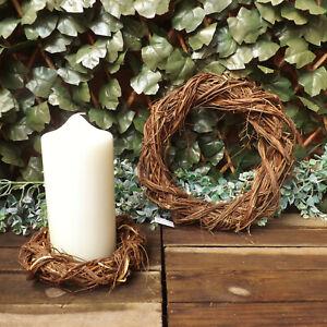 Twisted-naturale-Willow-ROUND-CORONA-Casa-Matrimonio-Pasqua-Decorazione-di-Natale