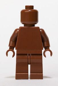 Lego MONOFIG PLAIN BROWN MONOCHROME MINIFIG NEW