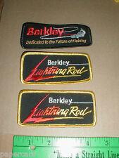 3 NEW Berkley Lightning Rod Trilene Fishing line hat jacket patch lot patches