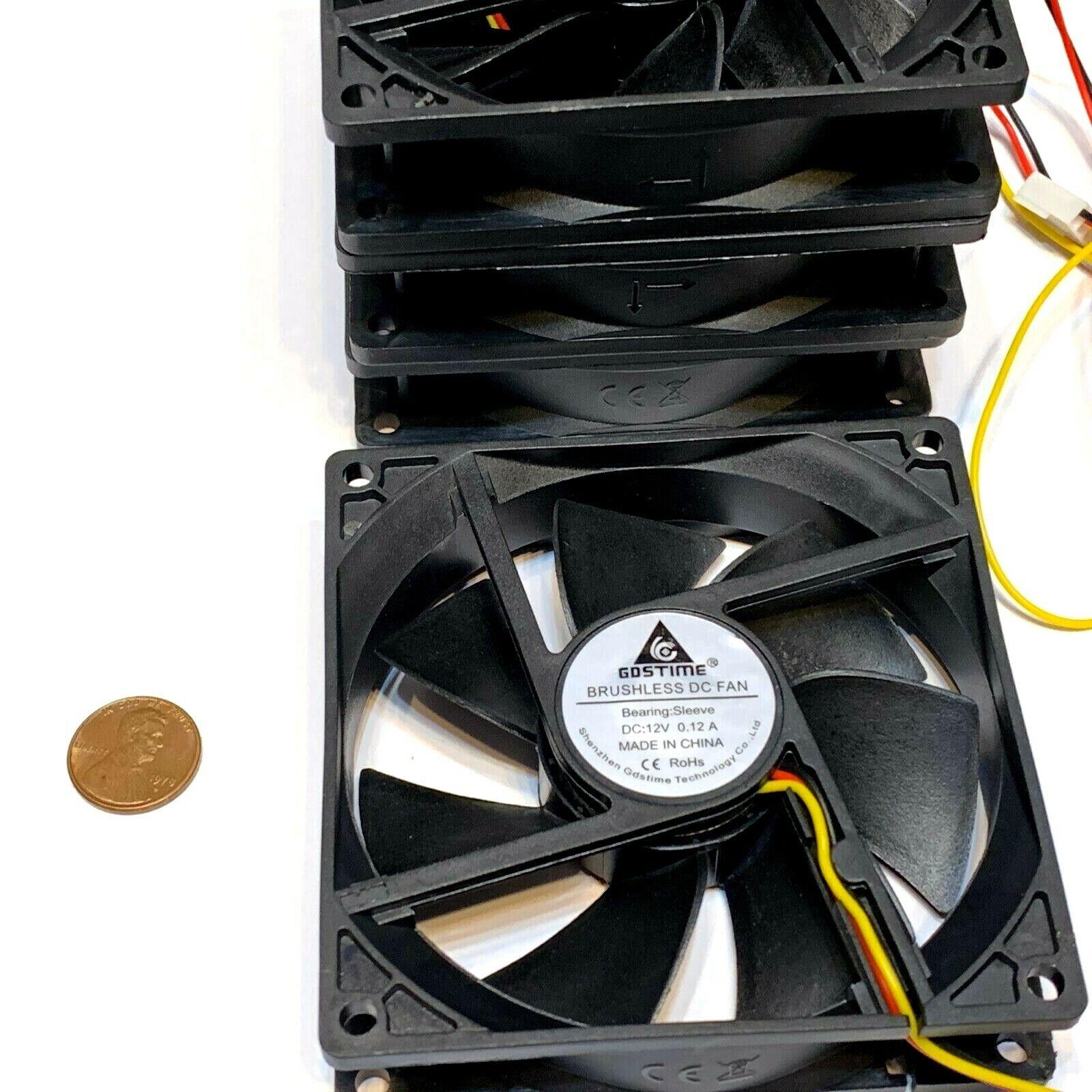 4 Pieces Gdstime 12v 9CM 9225 92x92x25mm DC 3Pin CPU Cooling 3d printer G10