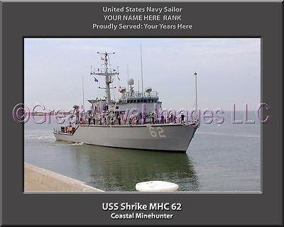 USS Shrike MHC 62 Personalized Canvas Ship Photo Print Navy Veteran Gift