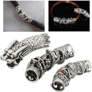 3x-Silber-Bead-Charm-Stopper-Clip-Perle-Bartperle-Bartschmuck-Haarperle-Keltisch
