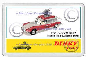 DINKY-1404-CITROEN-1D-19-RADIO-TELE-LUXEMBOURG-ARTWORK-NEW-JUMBO-FRIDGE-MAGNET