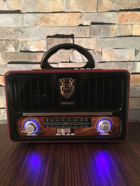 Radio Vintage Retro Altavoz Bluetooth Estilo Antiguo Radio FM/AM/SW USB SD MP3