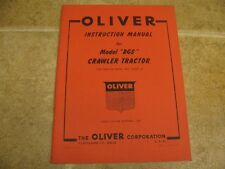 Oliver Bgs Crawler Tractor Instruction Manual Operators
