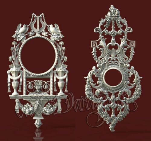 2 3D STL Models Furniture Decor CNC Router Carving Machine Artcam aspire Cut3D