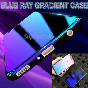 more photos 64a39 3af04 Details about Blu Ray Gradient Colour Mirror Hard Back Case Cover For  Huawei P10 Lite P10 Mate