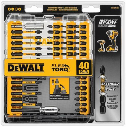 DEWALT BRAND NEW Impact Ready 40 Piece Screwdriver Bit Set FlexTorq